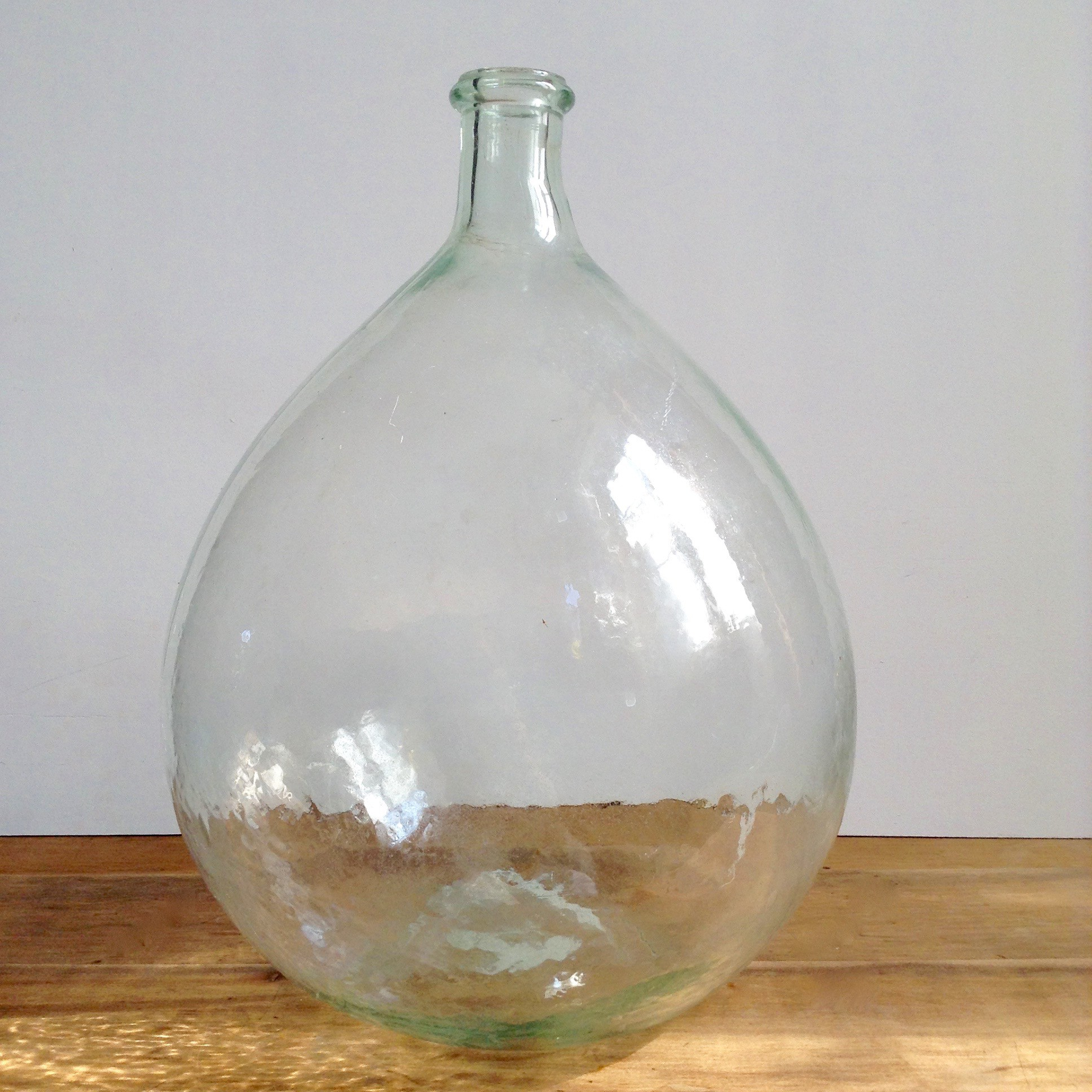 Dame jeanne bonbonne vase forme bouteille en verre recyclé transparent