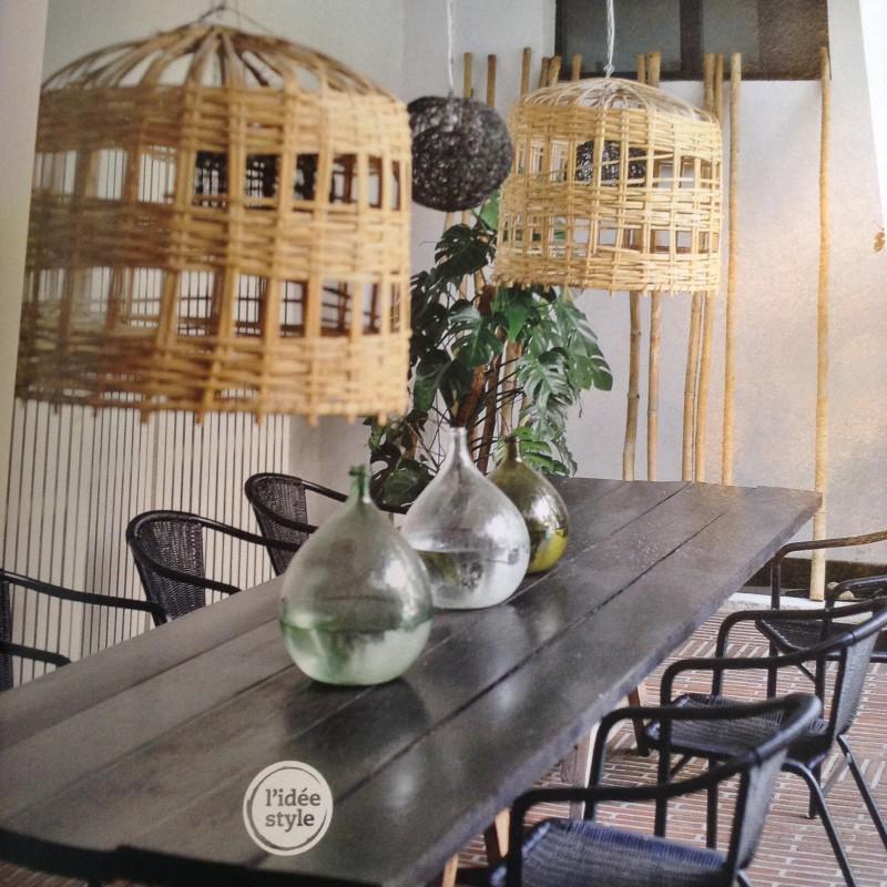 dame jeanne bonbonne vase forme bouteille en verre recycl vert. Black Bedroom Furniture Sets. Home Design Ideas