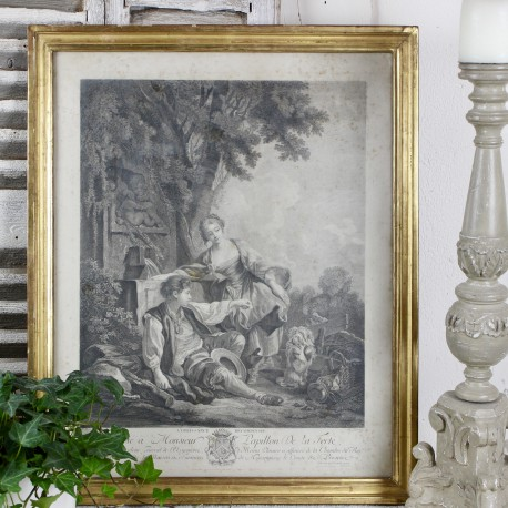 Gravure Ancienne Scène Galante n°2