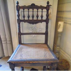 Chaise Patine Noire