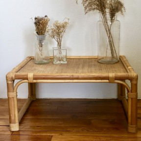 Table Basse En rotin Vintage