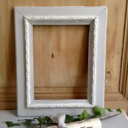 Cadre Patiné Blanc et Gris Gustavien