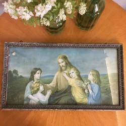 Tableau Chromo Christ 19ème