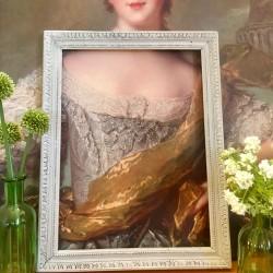 Cadre Patine Gris Marie Antoinette