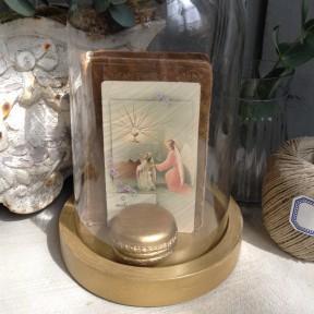 Globe en verre doré