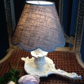 Lampe rat de cave blanc crème