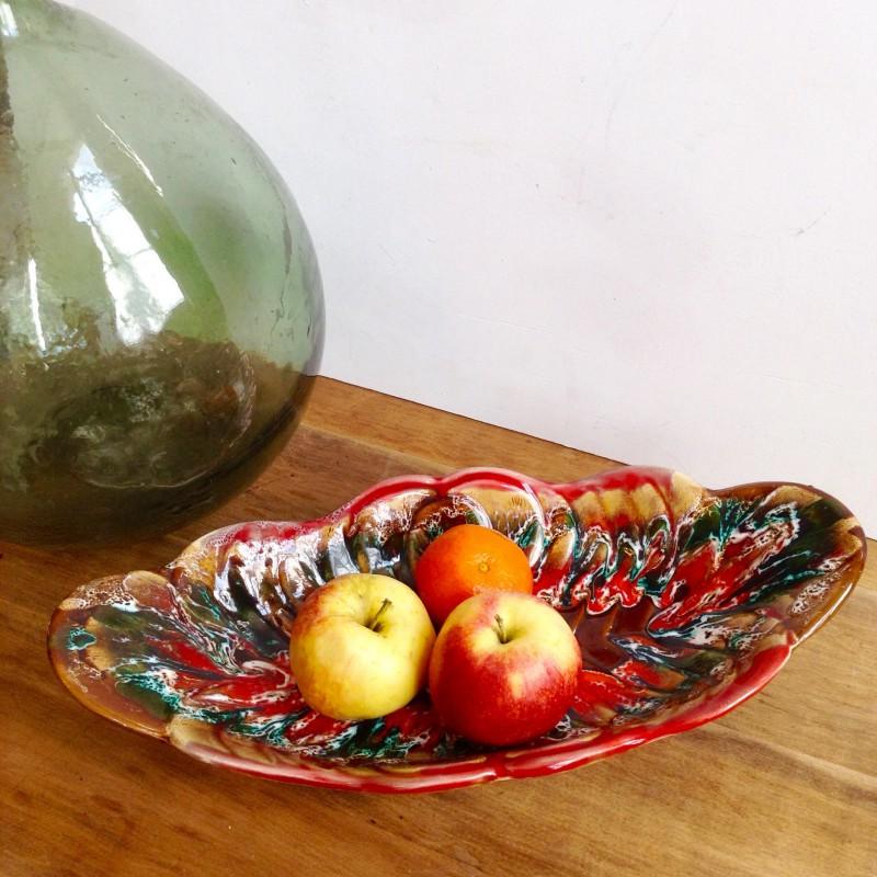 grande coupe fruit en c ramique estampill vallauris vintage design. Black Bedroom Furniture Sets. Home Design Ideas