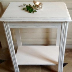 ancienne coiffeuse avec miroir en bois fin xix me patine blanc gris. Black Bedroom Furniture Sets. Home Design Ideas