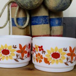 Lot de Deux Tasses Vintage Arcopal