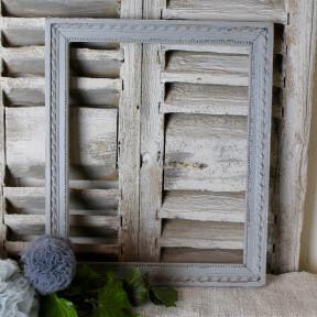 Cadre Patine Gris Gustavien
