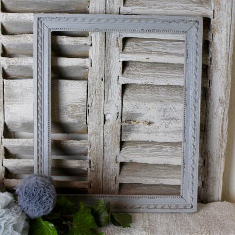 vieux cadre moulure en bois sculpt patine gris gustavien poque 19 me. Black Bedroom Furniture Sets. Home Design Ideas