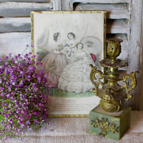 Gravure Mode Parisienne au XIXème siècle