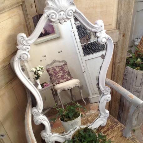 Miroir Patiné Blanc