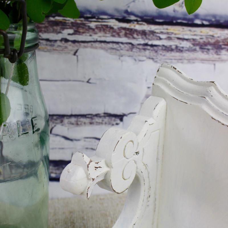 etag re murale en bois sculpt 1900 patine blanche ancienne encoignure. Black Bedroom Furniture Sets. Home Design Ideas