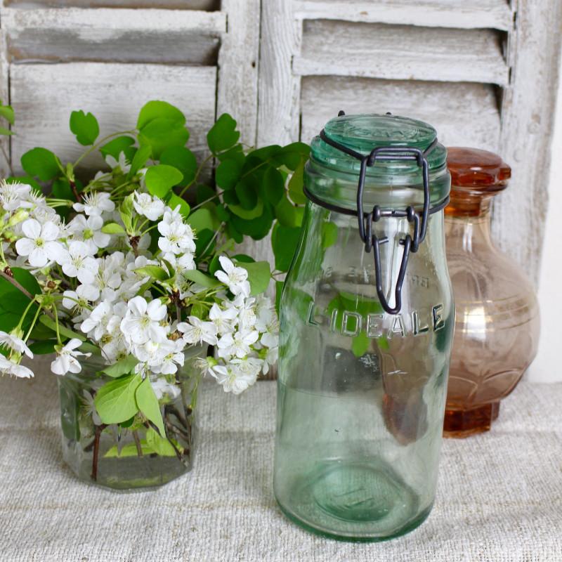 bocal conserver ingr dients l ideale en verre vert contenance 1 l. Black Bedroom Furniture Sets. Home Design Ideas