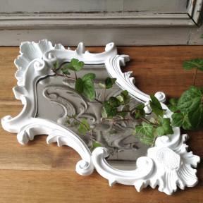 Miroir Baroque Patiné Blanc