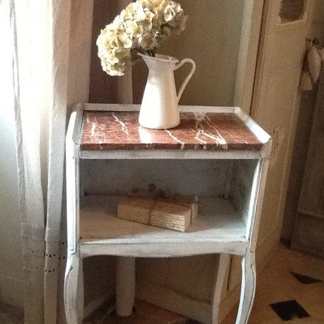 chevet style louis xvi patine l 39 ancienne blanche. Black Bedroom Furniture Sets. Home Design Ideas