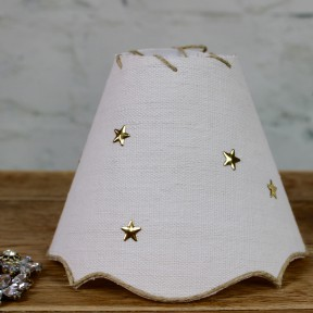 Petit Abat Jour Constellation Chanvre Blanc & Or