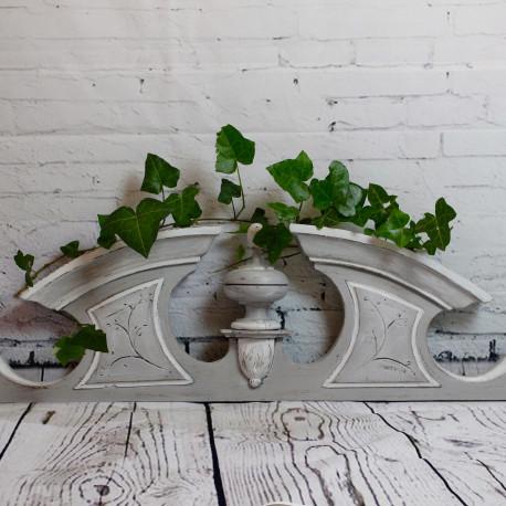 Fronton ancien poque 1900 en ch ne style louis xvi patine for Meuble patine gris gustavien