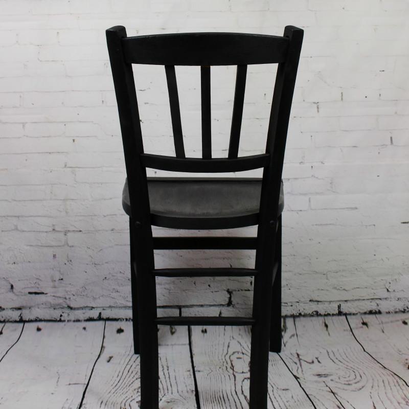 Chaise de bistrot caf ancienne en bois patine noire for Chaise bistrot ancienne