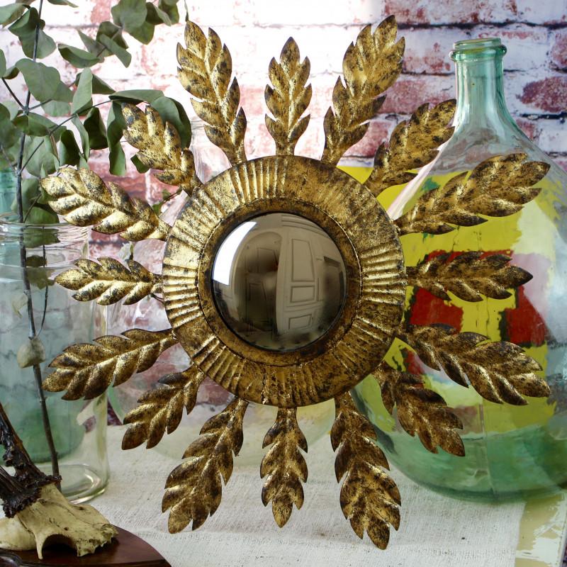 Miroir oeil de sorci re en t le forme soleil vintage des for Miroir soleil sorciere