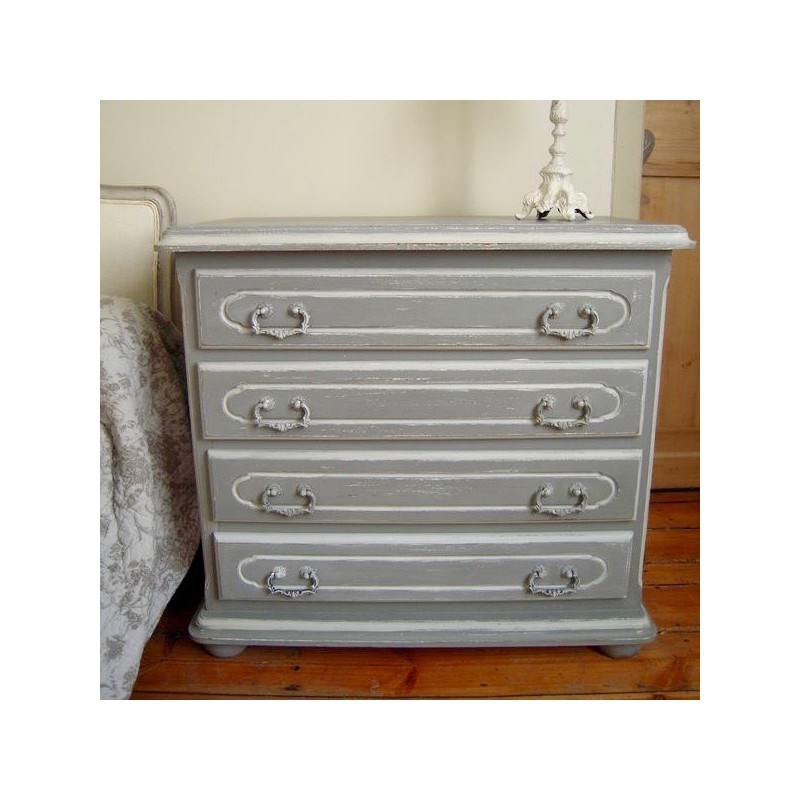commode style louis xv rocaille patin e gris gustation avec 4 tiroirs. Black Bedroom Furniture Sets. Home Design Ideas