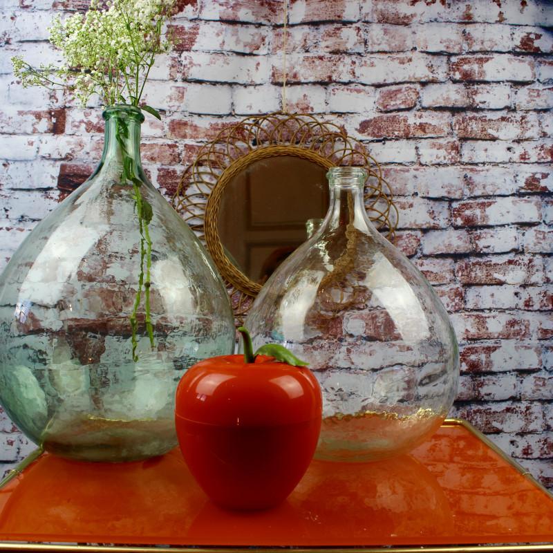 seau gla ons en forme de pomme orange vintage des ann es 70. Black Bedroom Furniture Sets. Home Design Ideas