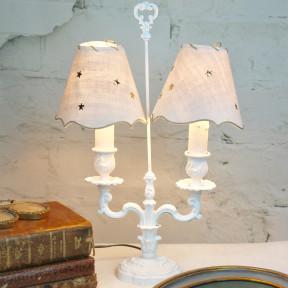 Lampe Bouillote Patinée Blanc de Suède