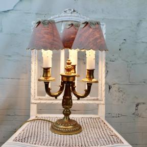 Lampe Chandelier en Bronze