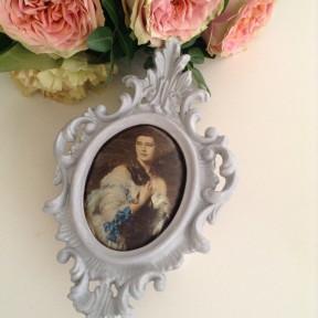 Cadre Baroque Patiné Gris Gustavien