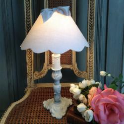 Lampe style Louis XV Patine Gris Gustavien