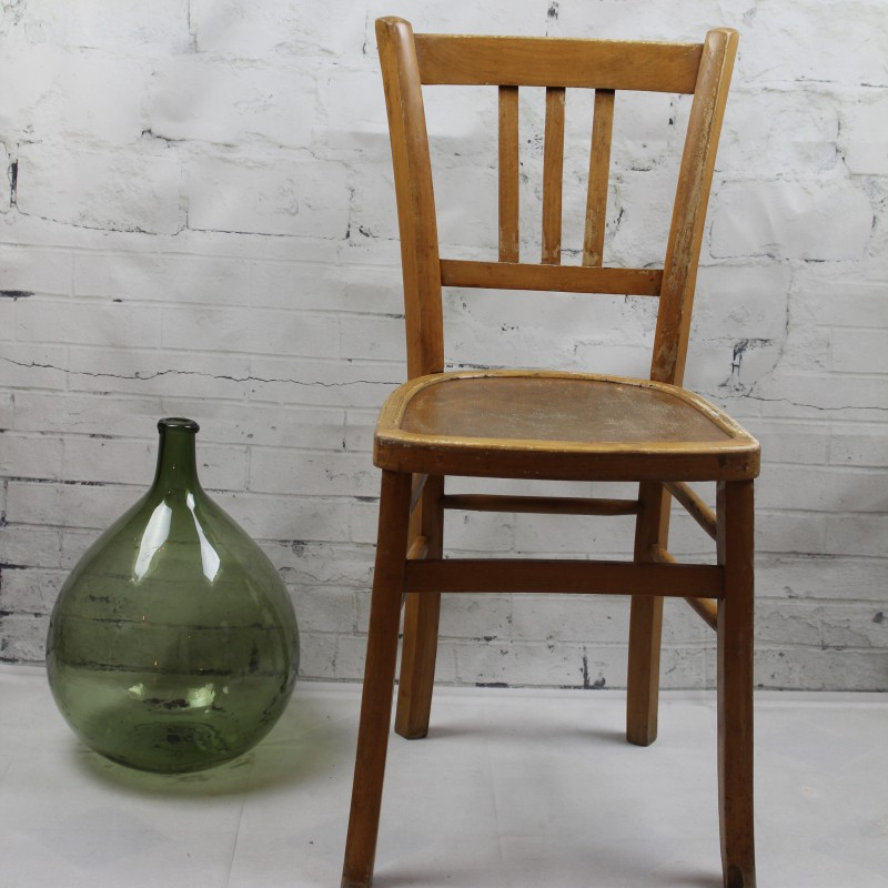 Chaise Bistrot Ancienne De Style Baumann En Bois Clair