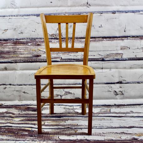 chaise bistrot ancienne de style luterma en bois clair. Black Bedroom Furniture Sets. Home Design Ideas