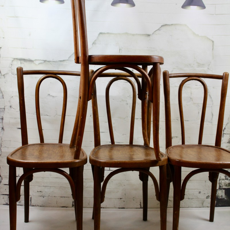 Lot De 4 Chaises Bistrot Thonet Fin XIXeme Debut XXeme