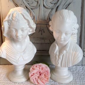 Bustes Anciens Galante et Gentilhomme de style XVIIIème