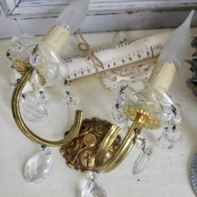 Paire d'Appliques de Style Louis XVI à Pampilles