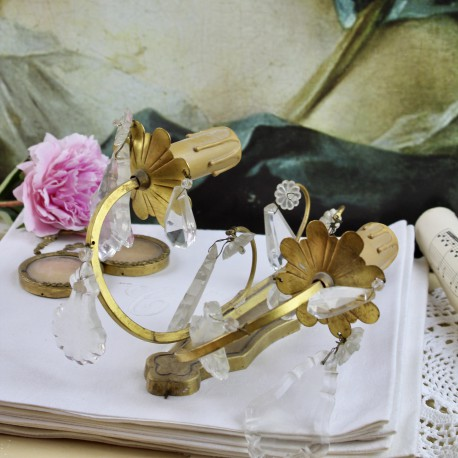 Applique de Style Louis XVI à Pampilles