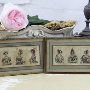 Lot de Trois Gravures Mode Parisienne du XIXème siècle