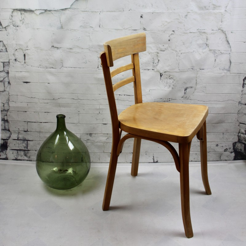 Awesome chaise bistrot baumann thonet estampille with for Chaise bistrot ancienne