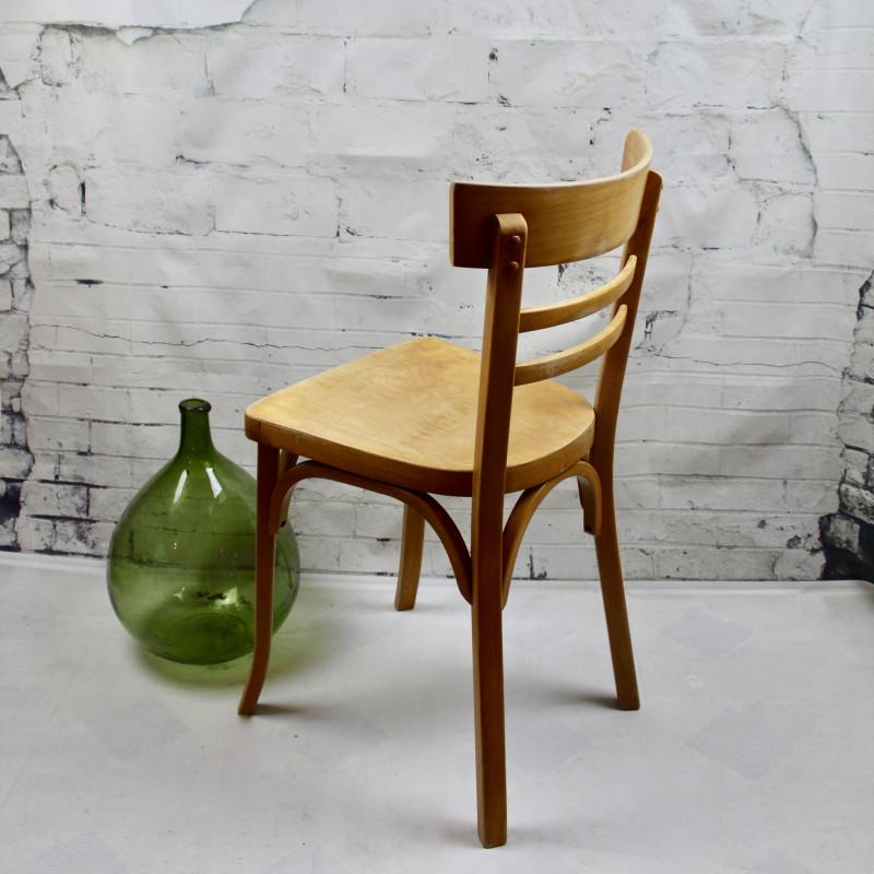 Chaise bistrot ancienne baumann thonet en bois clair - Chaise bistrot ancienne baumann ...