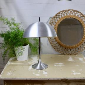 lampe bois patine ardoise abat jour tonkinois blanc pochoir toile or. Black Bedroom Furniture Sets. Home Design Ideas