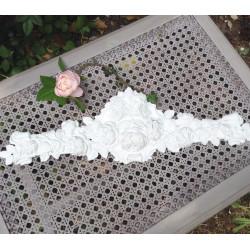 Fronton Patine Blanc Antique