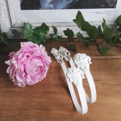 Paire de Porte-embrasses Patinée Blanc