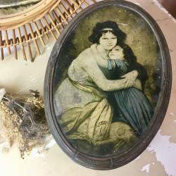 Boite Métallique illustration Vigée Lebrun Portrait Mère et Fille