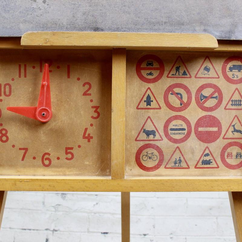 Tableau d 39 cole vintage ann es 50 60 pour enfant en bois for Tableau noir pour enfant