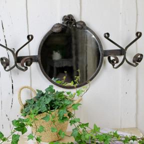 Miroir Décor de Rose en Fer Forgé