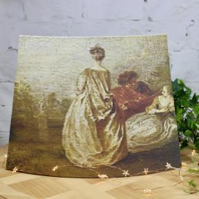 Abat-Jour Pans Coupés Peinture Française XVIIIème