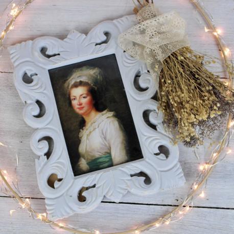 Cadre Mme Elizabeth de France Patiné Gris