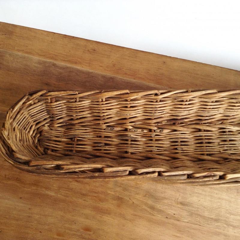 ancienne pani re corbeille pain de boulanger en osier. Black Bedroom Furniture Sets. Home Design Ideas