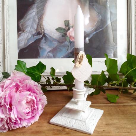 bougeoir rat de cave ancien en bronze patin blanc style louis xv. Black Bedroom Furniture Sets. Home Design Ideas